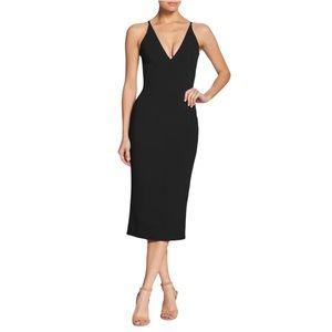 Dress the Population Lyla Bodycon Midi Crepe Dress